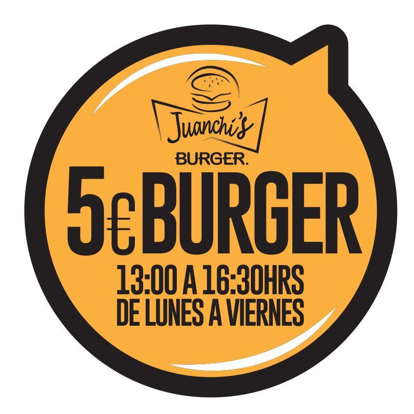Promoción Juanchis Burgers Madird - Burgers a 5€ de Lun a Vie de 13.00 a 16.30