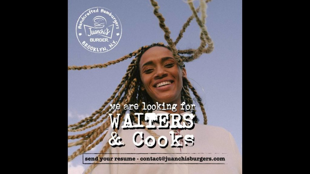 We are looking for waiters & cooks